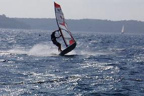 Surfing in vrboska with good wind