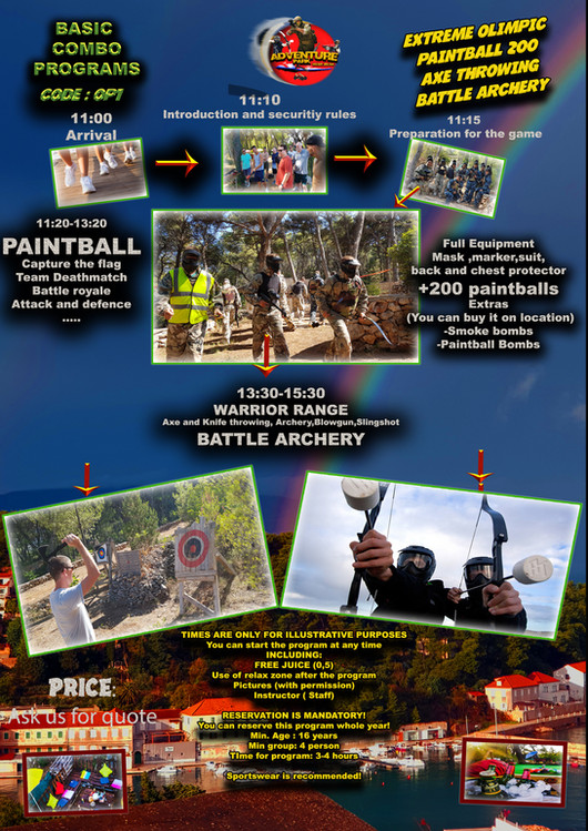 OP1 -EXTREME OLIMPIC. PAINTBALL, BATTLE