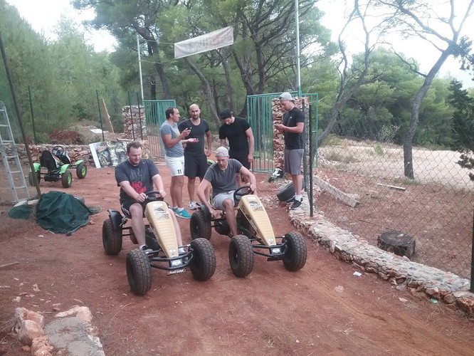 Stag do Pedal Go karts race
