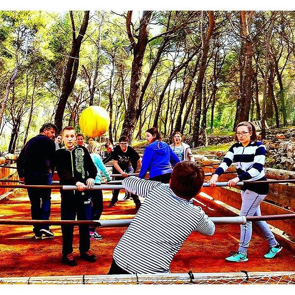 Human table football fun for everybody Hvar