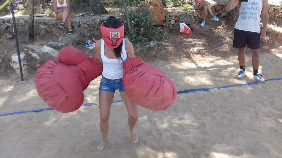 Giant boxing gloves