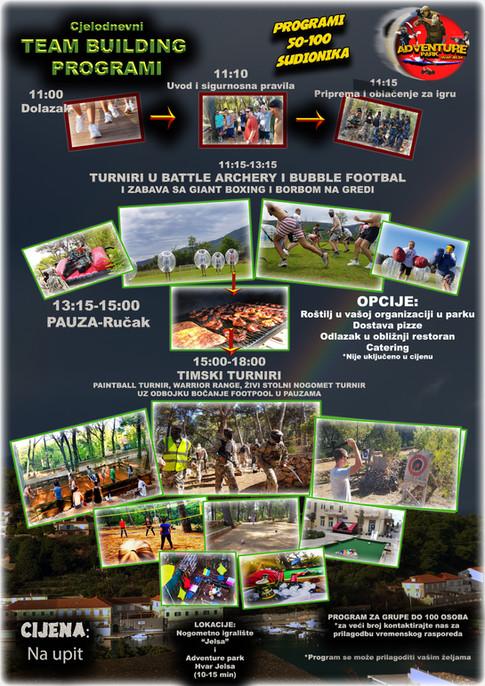 TBBIG1 Program za grupe 50-100 sudionika - 2 lokacije