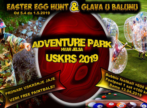 Glava u Balunu & Easter Egg Hunt-Uskrs 2019 by Adventure park Hvar Jelsa