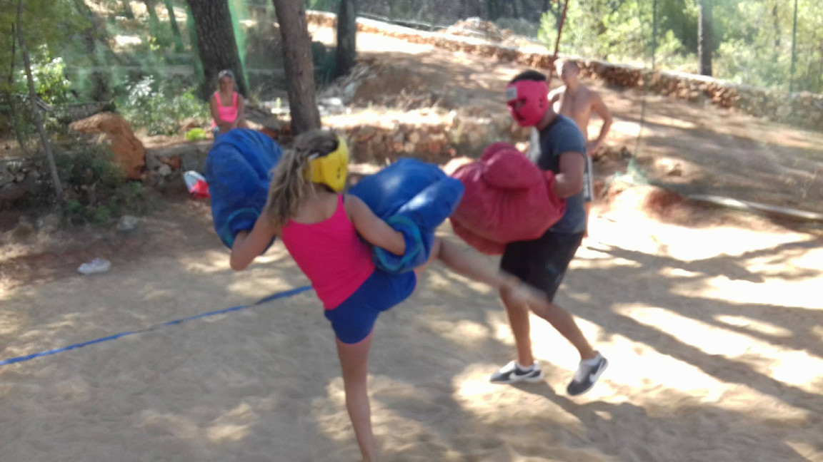 Couple fight - Adventure park Hvar Jelsa