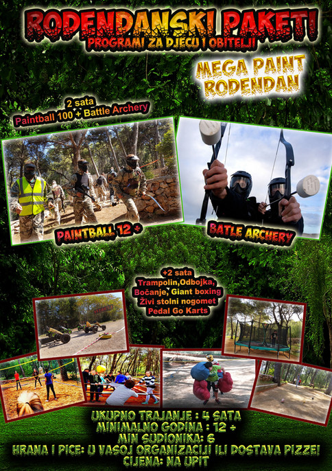 Paintball 12+ i Battle Archery Djecji rođendan