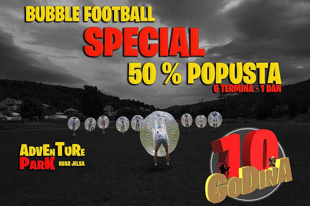 Bubble football popust