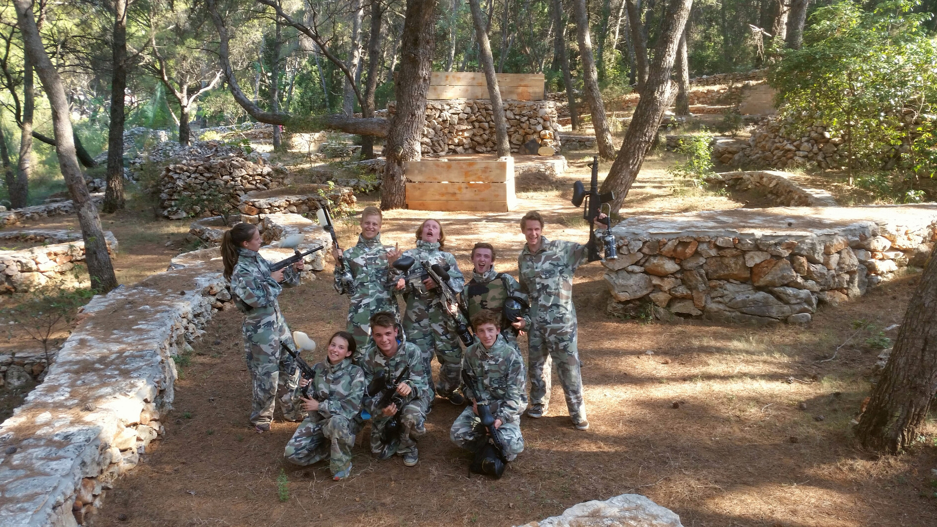 Paintball team building Croatia