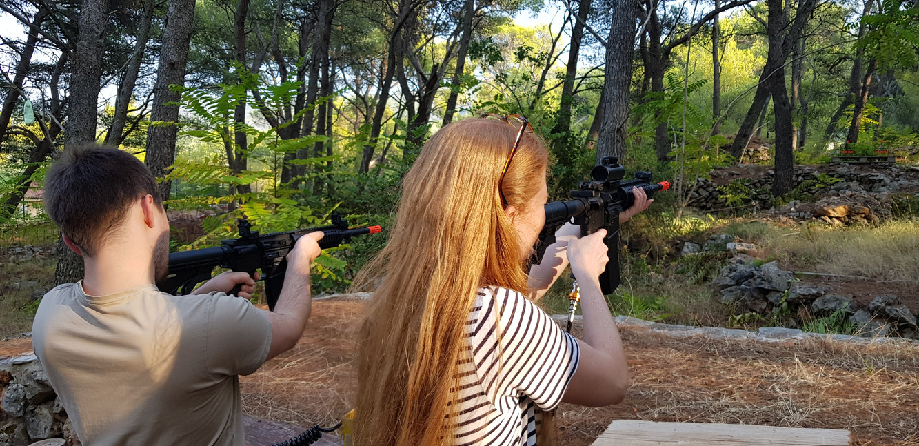 Airsoft duel range in Adventure park Hvar Jelsa