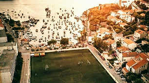 hvar town football field bubble football