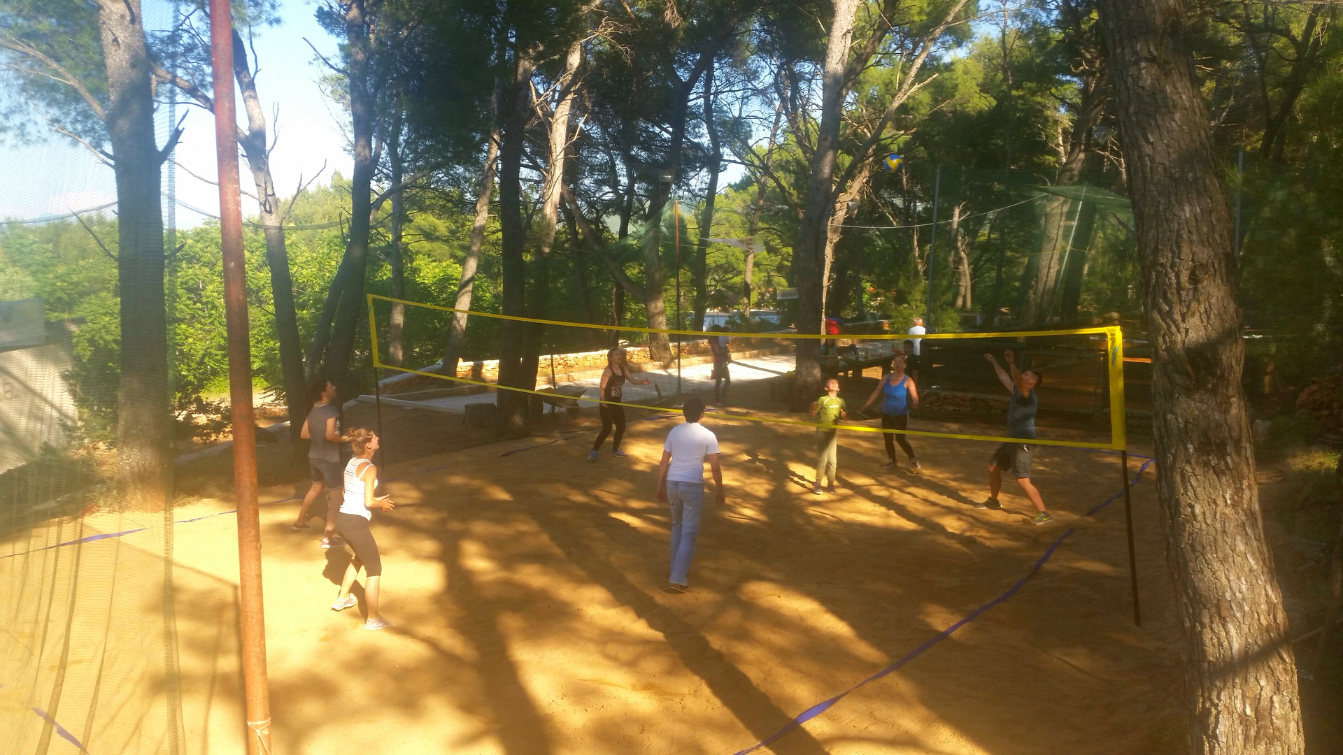 Beach volleyball tournament like teambuilding activitiy on Hvar island