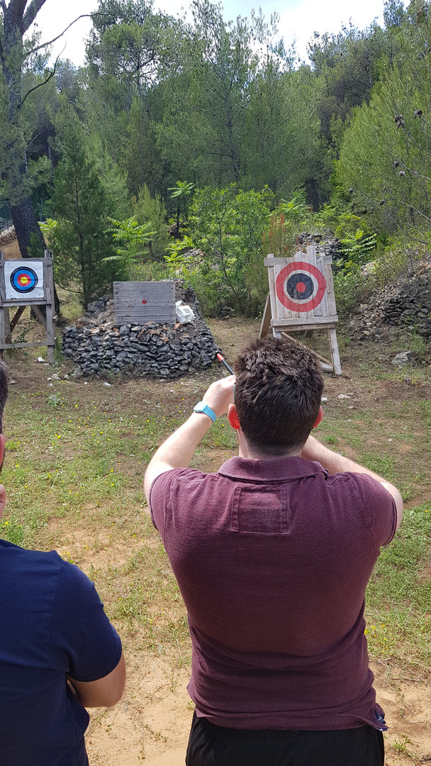Blowgun target competition