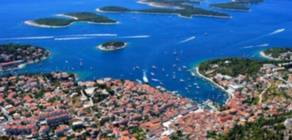 Paklinski island from air