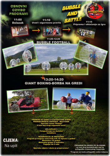 Bubble football Borba na gredi i Giant boxing