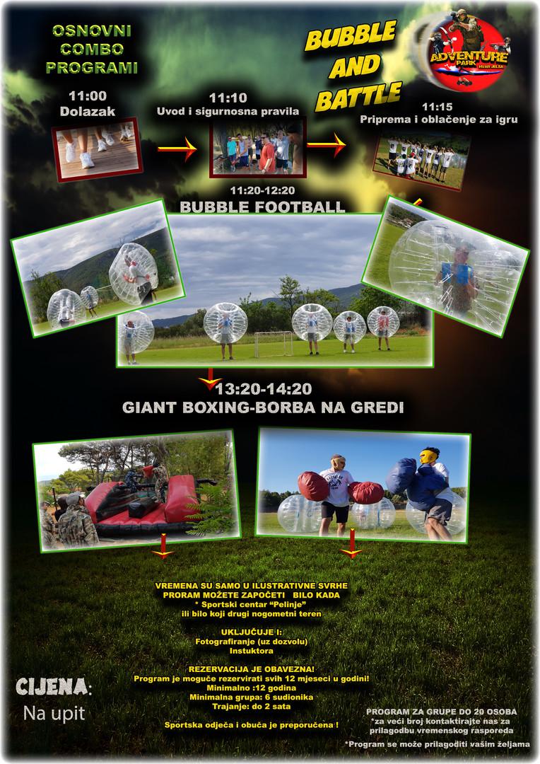 Bubble football Borba na gredi i Giant boxing