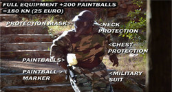 Paintball equipment in Hvar