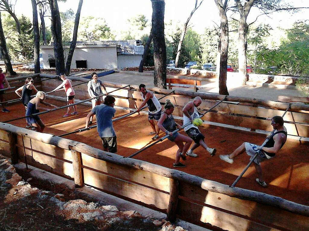 Human table football In Croatia