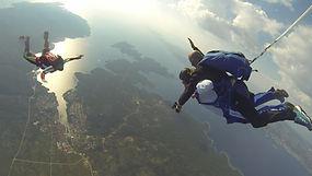 Skydiving tandem jump over Hvar
