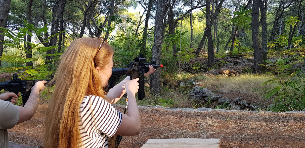 Airsoft duel -Activitiy in Hvar