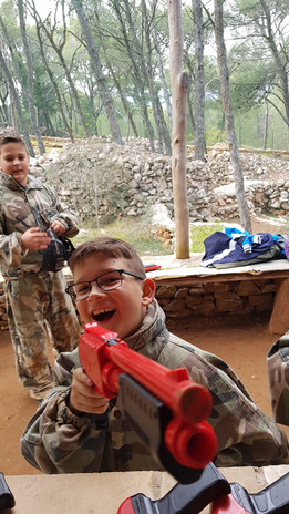 Birthday Kid on Paintball for kids