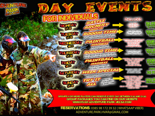 Day events 2017 Kids time-Paintball Drop in-Try it All