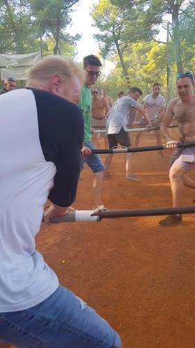 Human table football Hvar