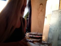 Alex Working in the Studio