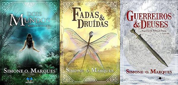 Três capas de Tesouros da Tribo de Dana.
