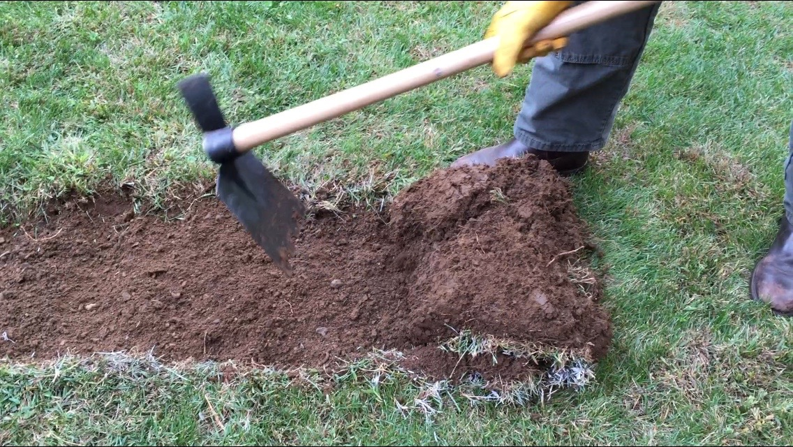 One tool to cut, scoop & remove sod