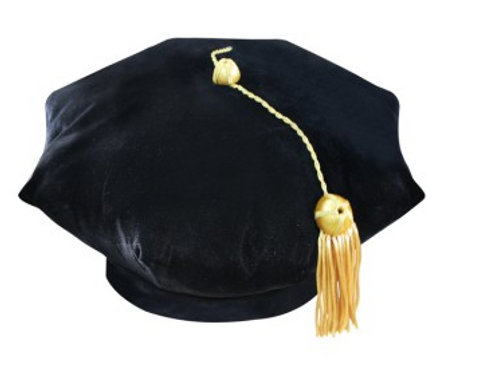 Deluxe Black Doctorate 8 Sided Tams