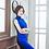 Thumbnail: Bespoke Side Mesh Blue Dress