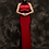 Thumbnail: Bespoke Classic Black Band Red Dress
