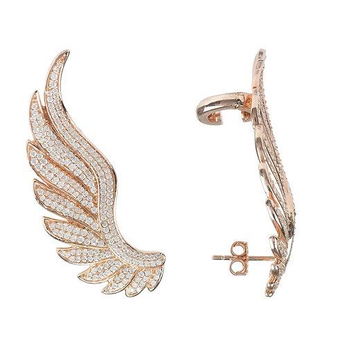 Gabriel Angel Wing Ear Climber Rosegold