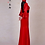 Thumbnail: Bespoke Back Mesh Red Satin Dress