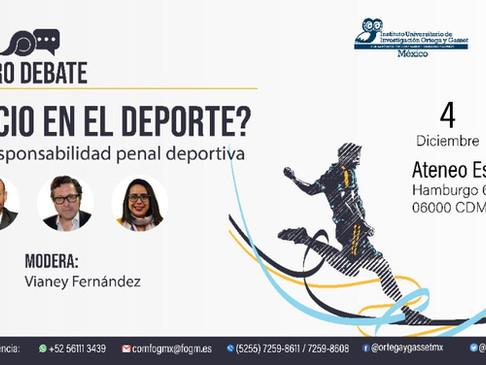 """Foro Debate: """"¿Ética o negocio en el deporte?: valores, integridad y responsabilidad penal depo"""