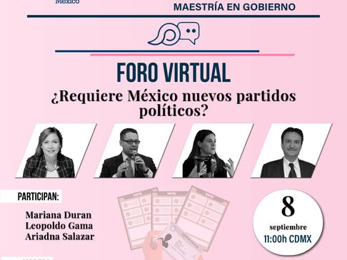 """Jornada de puertas abiertas. Foro """"¿Requiere México nuevos partidos políticos?"""""""
