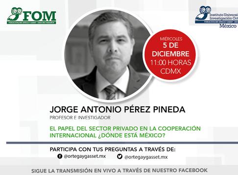 El papel del sector privado en la Cooperación Internacional ¿Dónde está México?