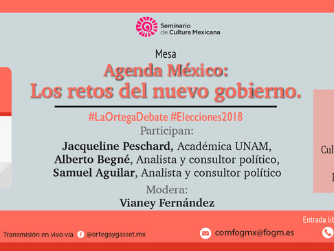 """Mesa Agenda México: Los retos del nuevo gobierno. Seminario Permanente """"Las elecciones 1 de jul"""
