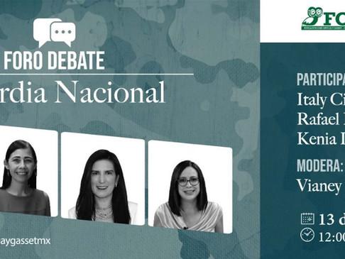 Foro debate: Guardia Nacional