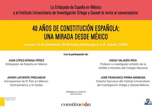 Conversatorio 40 años de Constitución Española: Una mirada desde México.