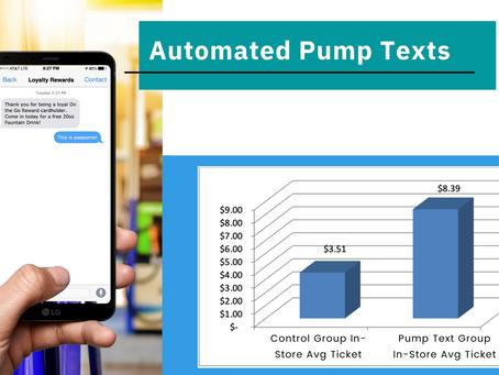 Pump Texts also increase ticket amount