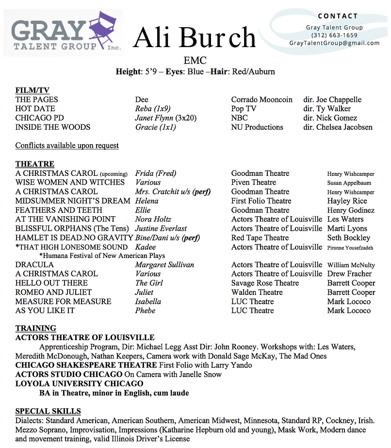 Ali Burch Resume