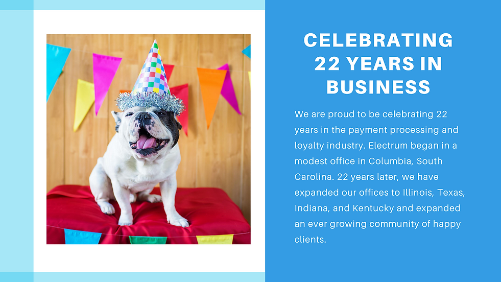 Celebrating our 22 years in business!.pn