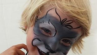 Kinderschminken Wolf Eisglut-Event