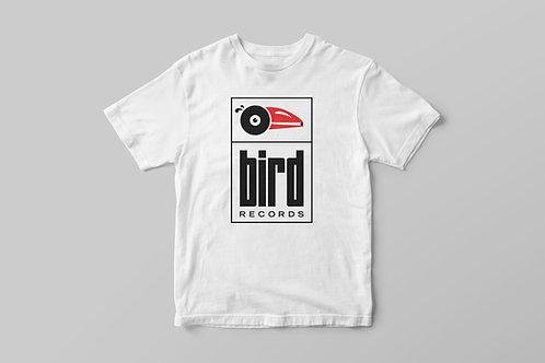 Unisex Bird Records T-shirt / White