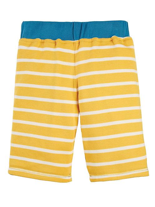 Jersey-Shorts National Trust zum Wenden in blau und gelb
