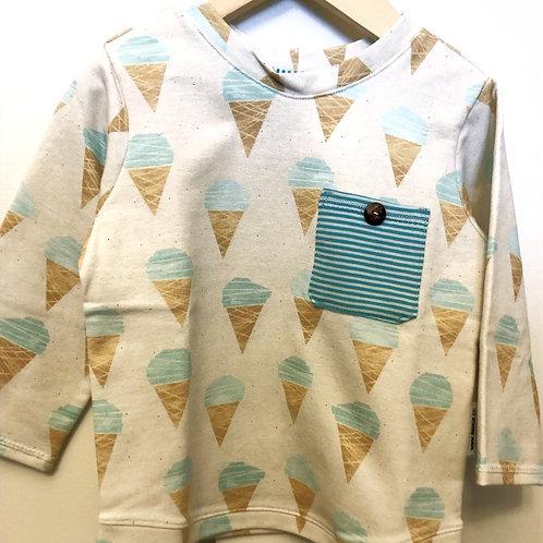 Langarm Shirt Glacé genäht von Sibylle
