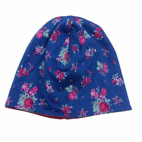 Mütze kleine Rosen genäht von Johanna