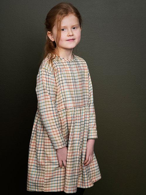 Kleid aus gebürsteter Baumwolle