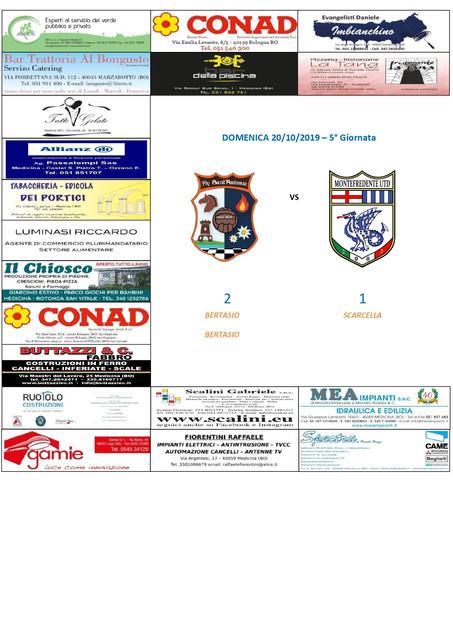 5° Giornata: FLY SANT'ANTONIO vs UTD. MONTEFREDENTE