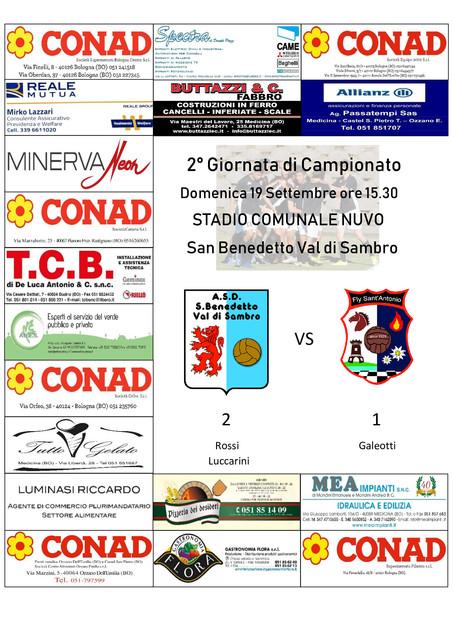 SAN BENEDETTO VAL DI SAMBRO vs FLY - 2° Giornata di Campionato